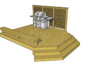 Пристройка терраса открытая Т-72