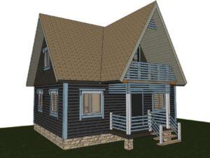 Дом из бруса 6х8 82м