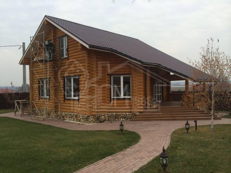 Дом из бревна 9х10м