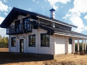 Дом из бруса 202м