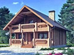 Дом из бревна 158м