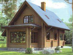 Дом из бревна 82,4м