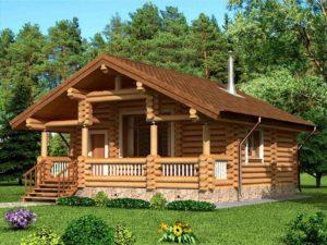 Дом из бревна 63,3м