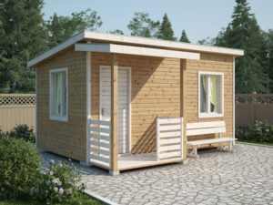 Каркасный садовый домик 5х3м
