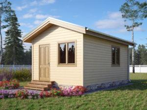 Каркасный садовый домик 6х3,8м
