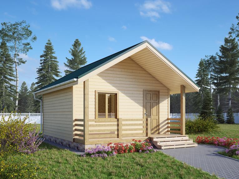 Каркасный садовый домик 5х5м