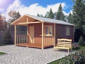 Каркасный садовый домик 7х4м