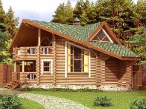 Дом из бревна Лада