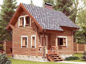Дом из бревна 61,4м