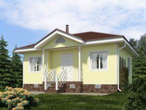Каркасный дом 42,2м