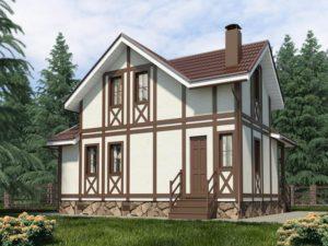 Каркасный дом 75,0м