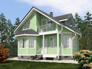 Каркасный дом 91,0м