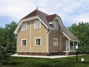 Каркасный дом 97,0м