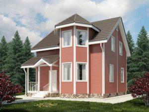 Каркасный дом 99,0м