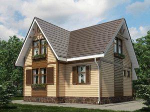 Каркасный дом 106,0м
