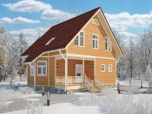 Каркасный дом 107м