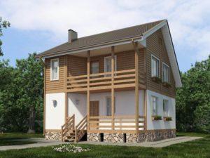 Каркасный дом 118,0м