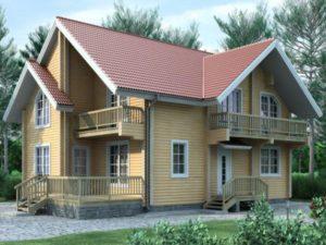 Дом из бруса 190м