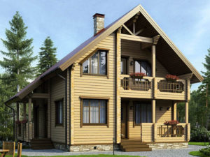 Дом из бруса 140м