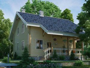 Дом из бруса 142,2м