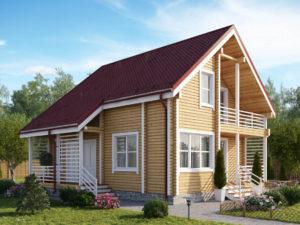 Дом из бруса 130м