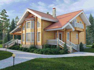 Дом из бруса 247м
