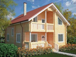 Дом из бруса 154м