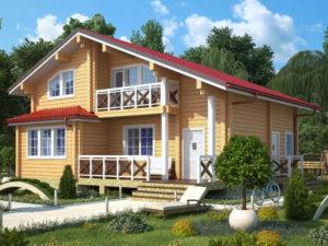 Дом из бруса 164м