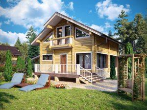 Дом из бруса 147,1м