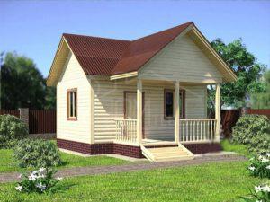Каркасный дом 6х6м