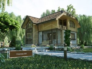 Дом из бруса 116м