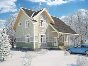 Дом из бруса 159,9м