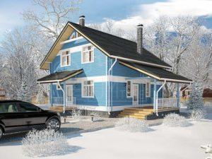 Дом из бруса 135м
