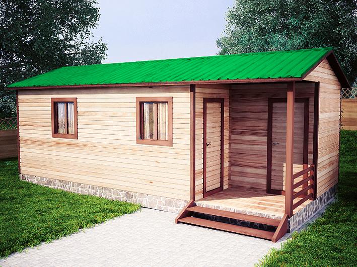 Садовый домик 3.8x8м