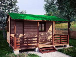Садовый домик 4,6х5м