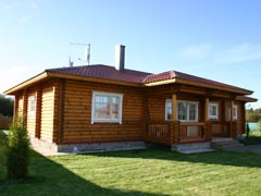 Дом-баня из бревна 89,9м