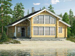 Дом-баня из бруса 93м