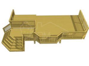 Пристройка терраса открытая Т-11