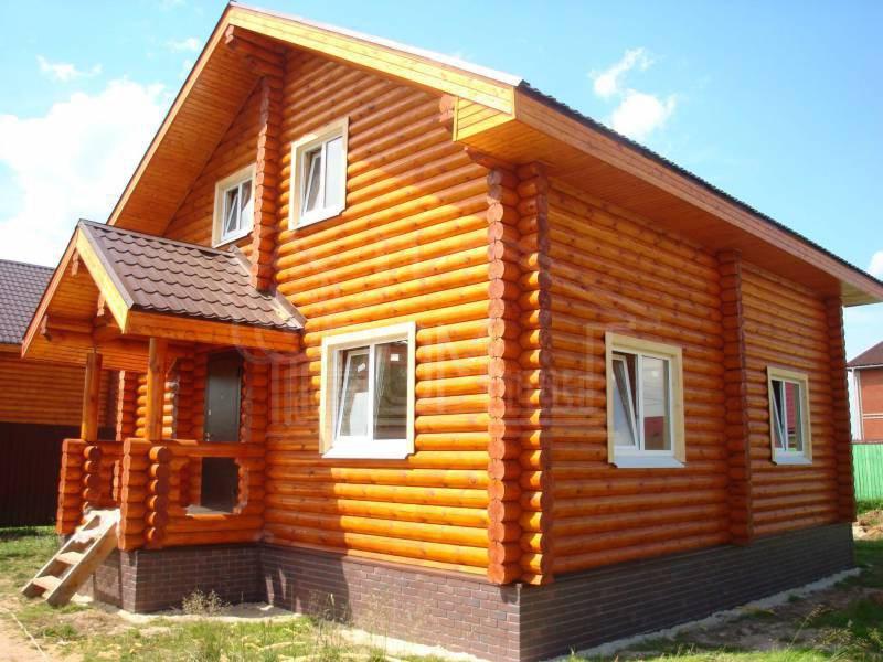 Дом из бревна 8х8м
