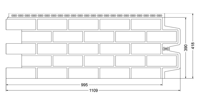 Фасадные панели GRAND LINE Состаренный кирпич